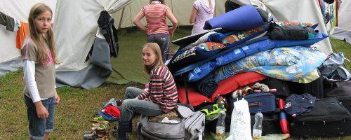 Aufräumen im KidsCamp 2008