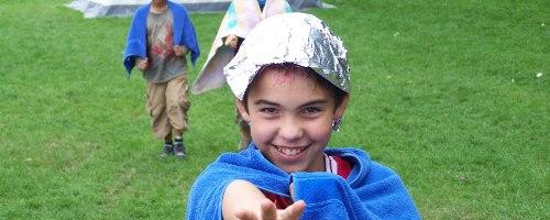 Haare tönen im KidsCamp 2006