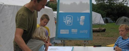 Siebdruck im Falken-KidsCamp 2008