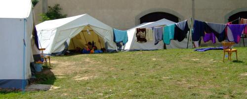 Zelte im KidsCamp 2007