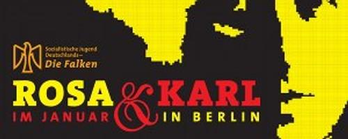 Postkarte für Rosa & Karl