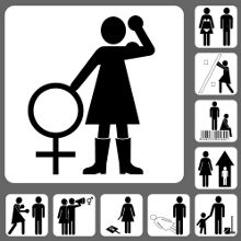 Piktogramme der Feminismuskampagne